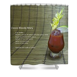 Bloody Mary, Bloody Caesar, Tomato Juice Shower Curtain by Karen Foley