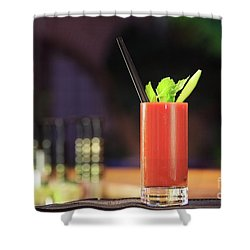 Bloody Mary Forever Shower Curtain by Ekaterina Molchanova