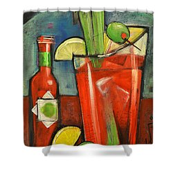 Bloody Mary Shower Curtain by Tim Nyberg