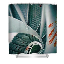 Shower Curtain featuring the photograph Bloody Stairway by Carlos Caetano