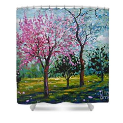 Bloom In Pink Shower Curtain