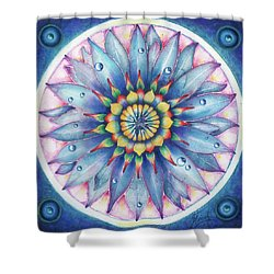 Shower Curtain featuring the painting Bloom Of Counsciousness by Anna Ewa Miarczynska