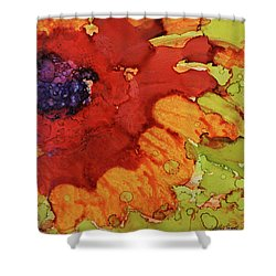Blooming Cactus Shower Curtain by Cynthia Powell