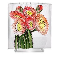 Blooming Cactus Shower Curtain