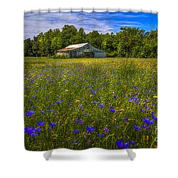 Blooming Country Meadow Shower Curtain by Marvin Spates