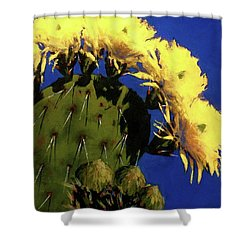 Blooming Prickly Pear Shower Curtain