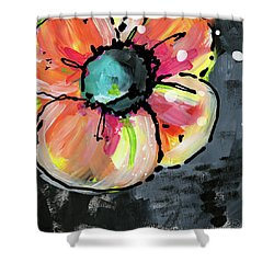Shower Curtain featuring the mixed media Blooming Wildflower- Art By Linda Woods by Linda Woods