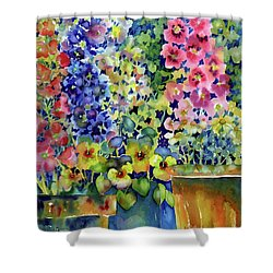 Blooms In Pots Shower Curtain