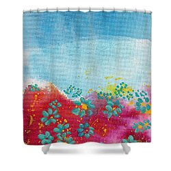 Blooms Shower Curtain by Shelley Overton