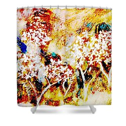 Shower Curtain featuring the painting Blossom Morning by Winsome Gunning