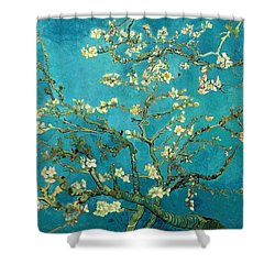 Shower Curtain featuring the painting Blossoming Almond Tree by Van Gogh