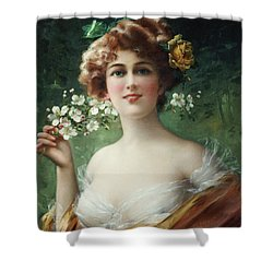 Blossoming Beauty Shower Curtain by Emile Vernon