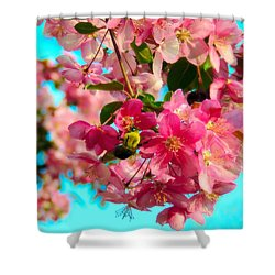 Blossoms And Bees Shower Curtain