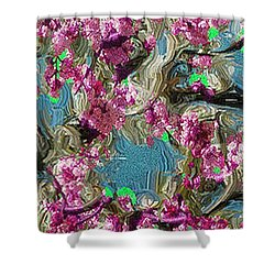 Blossoms And Branches Shower Curtain by Dale Stillman