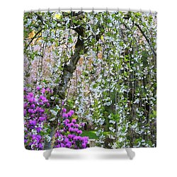 Blossoms Galore Shower Curtain by Carol Groenen