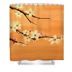 Blossoms On A Branch Shower Curtain