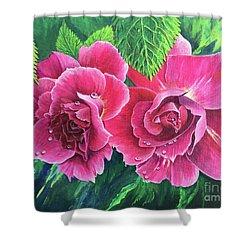 Blossum Buddies Shower Curtain