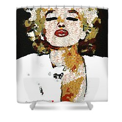 Blow Me A Kiss Marilyn Monroe In The Mix Shower Curtain