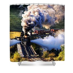 Shower Curtain featuring the photograph Blowdown On Lobato Trestle by Ken Smith