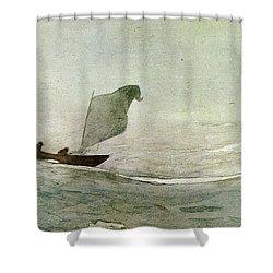 Blowen Away Shower Curtain by Winslow Homer