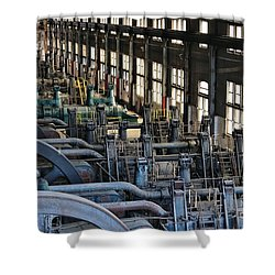 Blower Building Shower Curtain