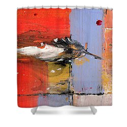 Blowin In The Wind - Colorful Linear Abstract Art Study Shower Curtain