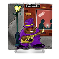 Blowin' On Bourbon Shower Curtain by Kev Moore
