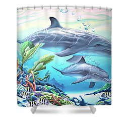 Blowing Bubbles Shower Curtain by William Love