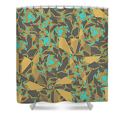 Blowing Leaves Shower Curtain