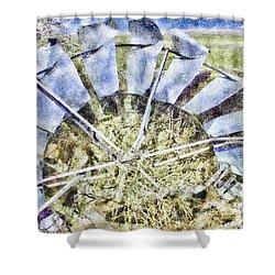 Blown Away Shower Curtain by Aliceann Carlton