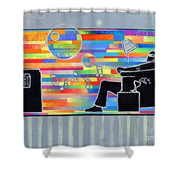 Blown Away Jeremy Style Shower Curtain