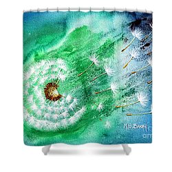 Blown Away Shower Curtain by Maria Barry