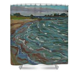 Blown Away Southampton Beach Shower Curtain