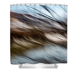 Blown By The Wind Shower Curtain
