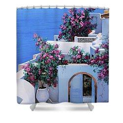 Blu Di Grecia Shower Curtain
