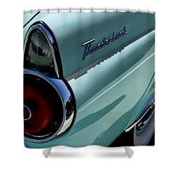 Blue 1955 T-bird Shower Curtain by Douglas Pittman