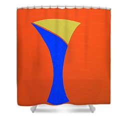 Shower Curtain featuring the painting Blue 22 by Bill OConnor
