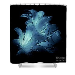 Blue Abstract No. 1 Shower Curtain