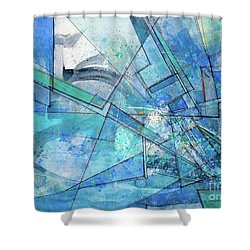 Blue Abstract  Shower Curtain by Robert Anderson