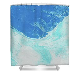Shower Curtain featuring the painting Blue Abyss by Nikki Marie Smith