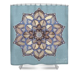 Blue And White Mandala Shower Curtain