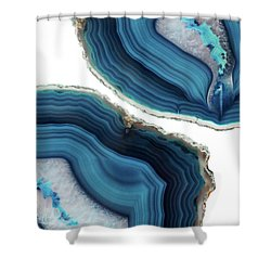 Blue Agate Shower Curtain