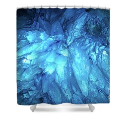 Shower Curtain featuring the photograph Blue Agate by Nicholas Burningham