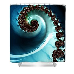 Blue Albania Shower Curtain