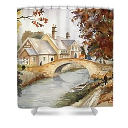 Blue Anchor Tavern Shower Curtain