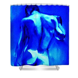 Blue And Bright Shower Curtain