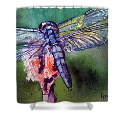 Blue And Green Dragonfly Shower Curtain