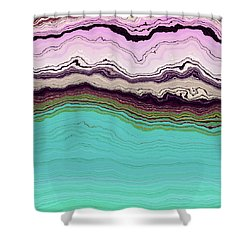 Shower Curtain featuring the digital art Blue And Lavender by Matt Lindley