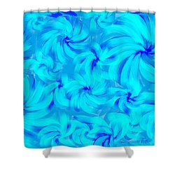 Blue And Turquoise 2 Shower Curtain
