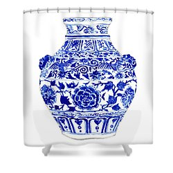 Blue And White Ginger Jar Chinoiserie 4 Shower Curtain